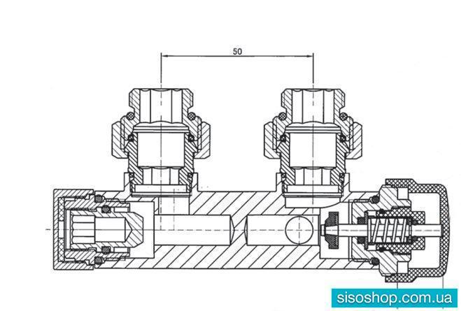 Комплект термостатический  угловой  ХРОМ