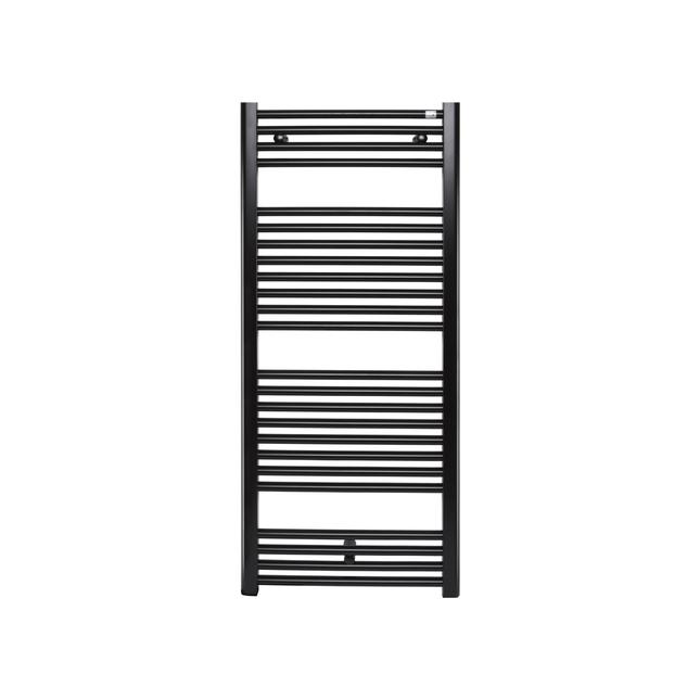 Водяной полотенцесушитель Zehnder Virando 1226 x 500, черный матовый