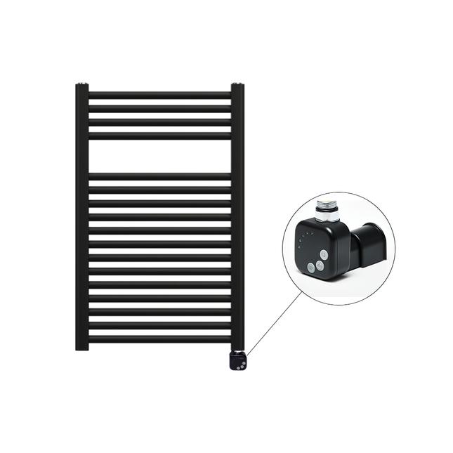 Электрический полотенцесушитель Zehnder Virando 786 x 500 мм с нагревателем HEС, черный