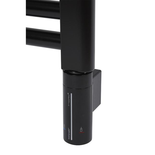 Электрический полотенцесушитель Zehnder Virando 786 x 500 мм с программируемым нагревателем HOTS, черный