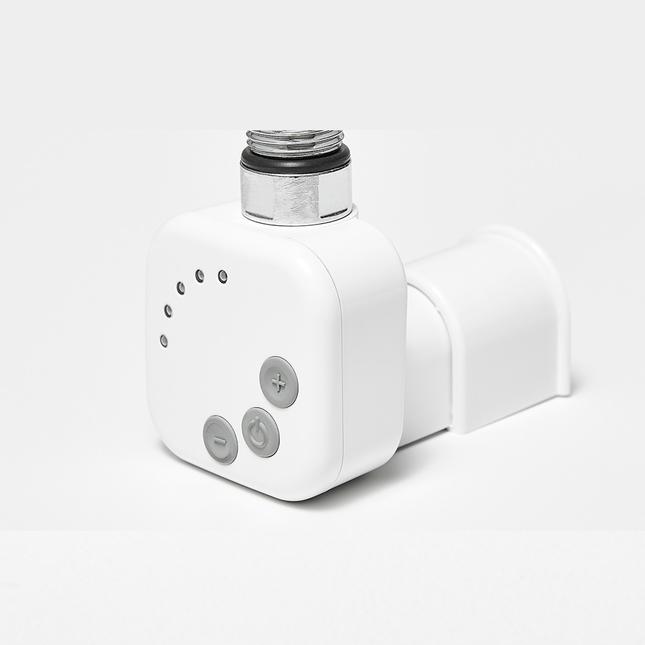 Электрический полотенцесушитель Zehnder Virando 1226 x 500 мм с программируемым нагревателем HEС, белый