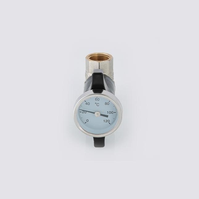 Кран шаровой c термометром VALTEC VT.808.N