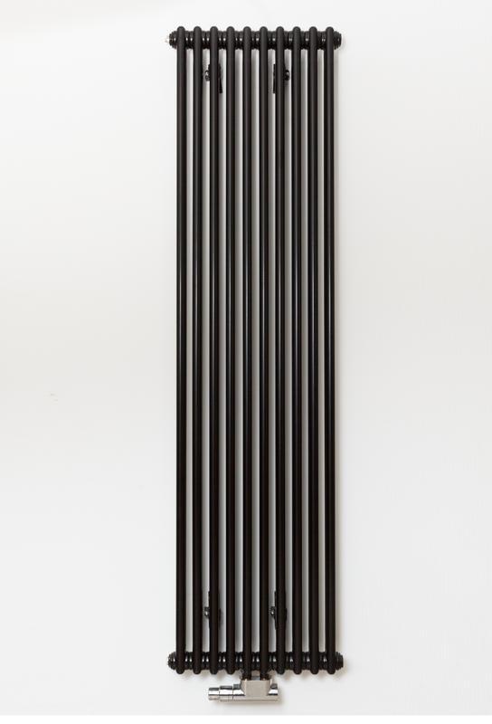 Дизайнерский радиатор Zehnder Charleston 10 секций черный